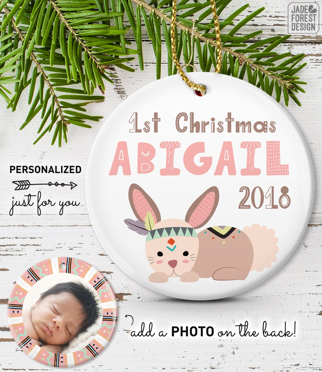 Perfect My First Christmas Ornament 2018 Model - Merry Christmas ...