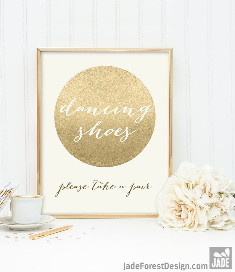 bc2f41f000e9 Dancing Shoes Sign   Flip Flop Basket  Gold Sparkle Wedding