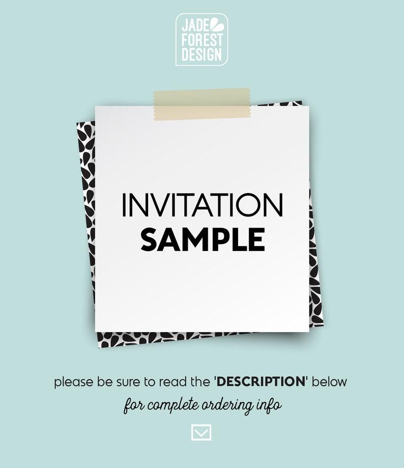 Wedding Invitation SAMPLE  printed & shipped image 0