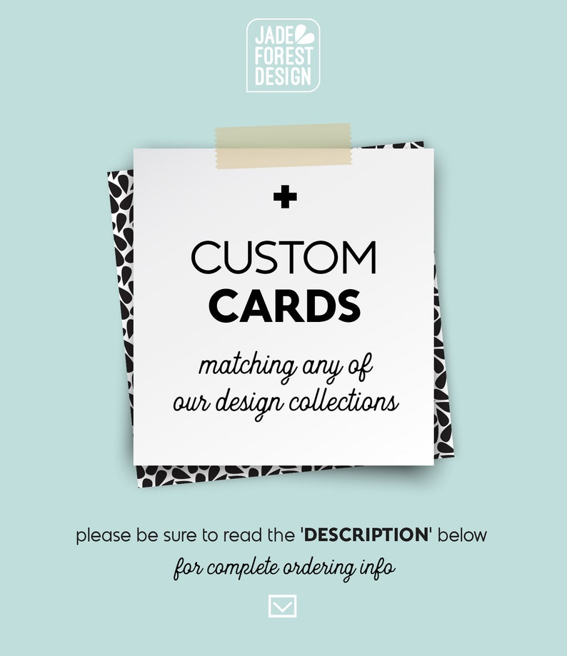 CUSTOM CARDS    RSVPs Detail Cards Thank You Cards etc image 0
