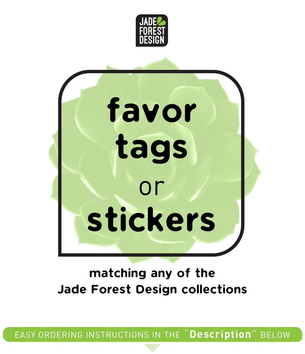 Custom Wedding Favor Tags Or Stickers Gift Tags Wedding Tags
