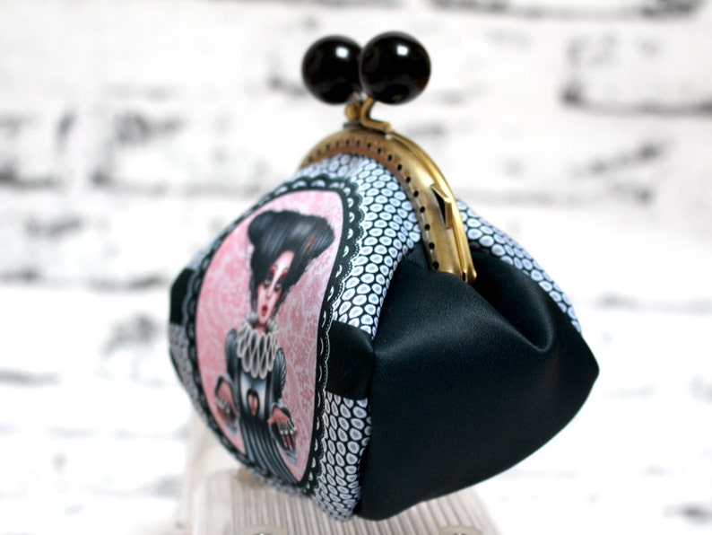 Original coin purse Sonata music gift for pianist Cute elegant wallet Handmade by me in France. Gift for musician i love piano