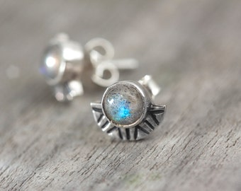 SUNSET earrings / Labradorite / Sterling Silver