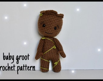 Crochet Baby Groot inspired stuffed toy amigurumi | Made to order ... | 270x340