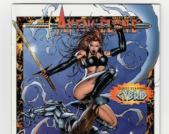 Avengelyne #4 or #5 Maximum Press Vintage 1996 Comic Book Guest Starring Cybrid Creator Rob Liefeld Fallen Angel Sent To Earth Goth Story