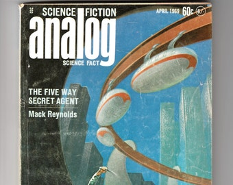 Analog Science Fiction and Fact Magazine 1969-Mack Reynolds-Jack Wodhams-Guy McCord-Walter Kleine-Thomas McDonough-Short Story Stories Pulp