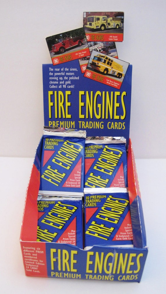 FIRE ENGINES SERIES 2 TRADING CARDS 36 PACK BOX STILL SEALED 1993 VIRGINIA HOBBY