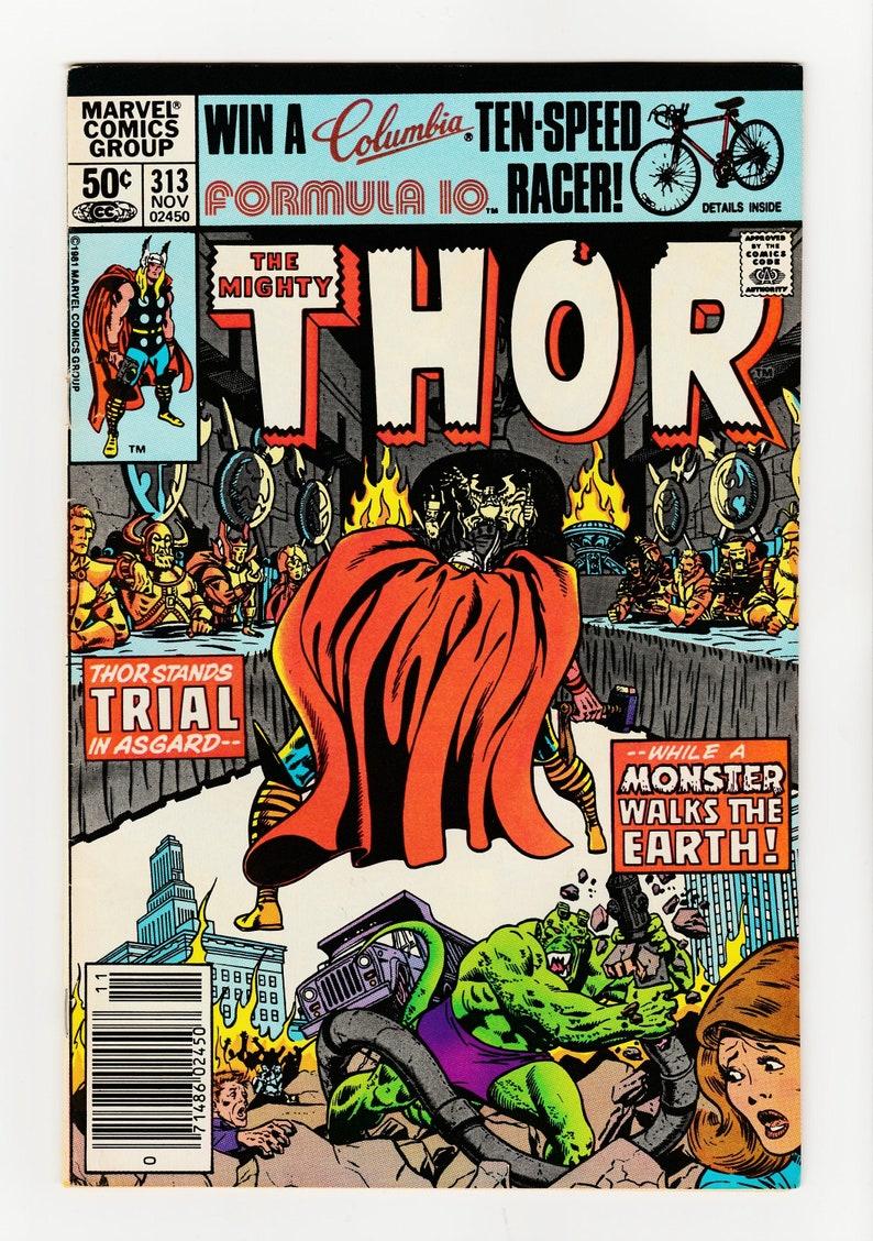 Thor #313-314-315 Marvel Comics 1981-Maurglon-Dax The Destroyer-Mysterious  Woman Moon Dragon-Bi Beast-Thunder God-Vintage 1980s Comic Book