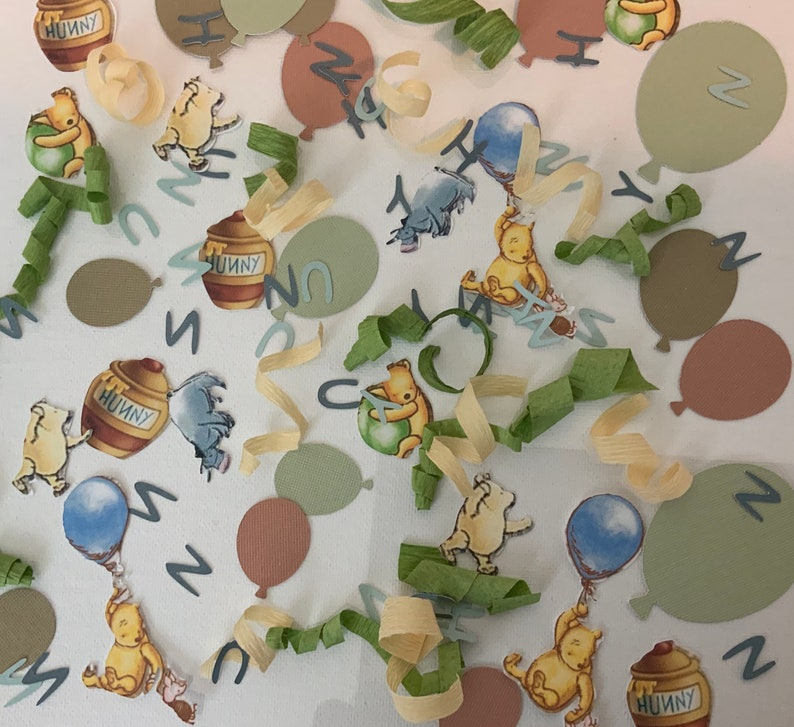 Winnie The Pooh Balloon Confetti Classic Winnie The Pooh Baby Shower 1st Birthday Decorations Winnie The Pooh Party Decorations