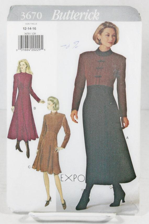 Butterick Sewing Pattern 6240 Jacket Dress Misses Very Easy Work Career Uncut