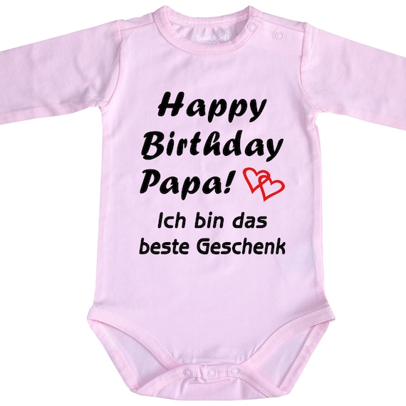 Geburtstags-Body Papa Mama Oma Opa Tante Onkel Baby-Body MIT Wunschname
