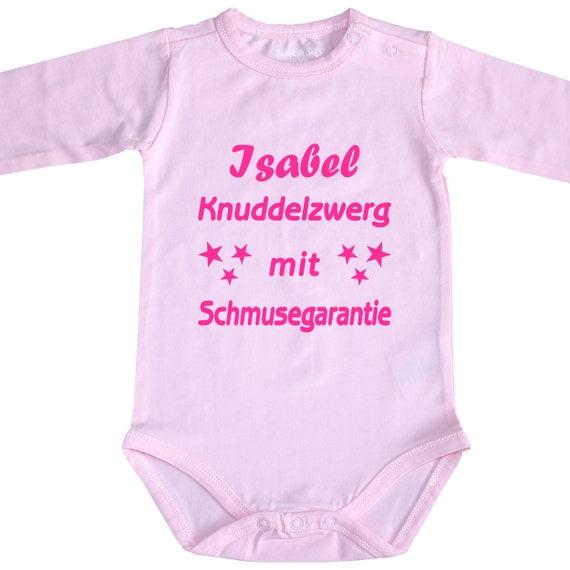 MIT WUNSCHTEXT BIO Baby Body Babybody Strampler MIT FREIER TEXTWAHL