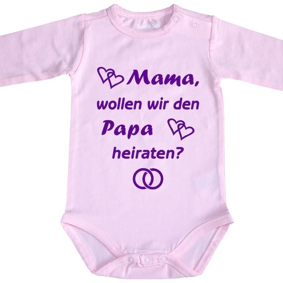 Babybody Baby-Body Papa oder Mama heiraten Heiratsantrag Unterwäsche Hochzeit