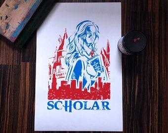 Hermione - Hogwarts- Chicago - Screenprint