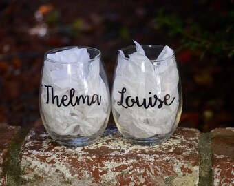 Stemless wine glasses - Thelma & Louise