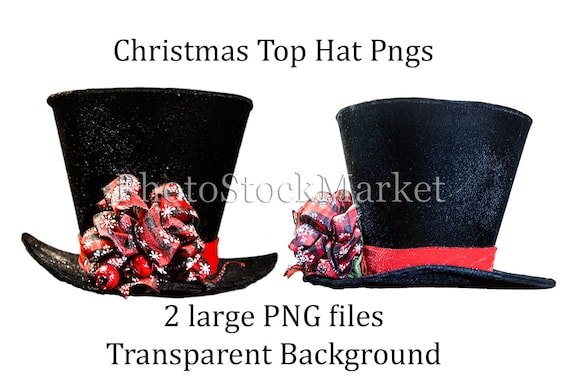 christmas top hat black hat png christmas hat christmas etsy