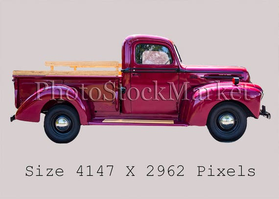 Vintage Ford Truck Red Truck Png Photoshop Png Photography Etsy