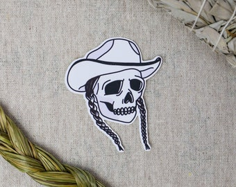 Rez 'til I'm Dead, Cowboy Skull, Canadian-Indigenous Made