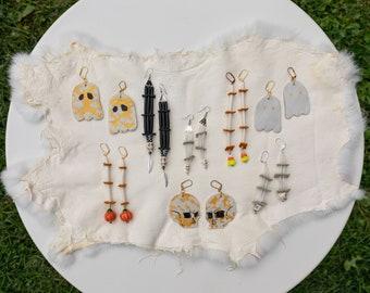 Halloween Earrings, Indigenous Handmade