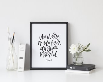 C.S. Lewis Literature Print We Were Made for Another World