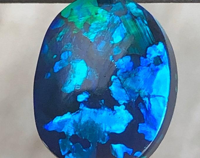 2.22ct Black Australian Opal For a Unique Ring Or Pendant