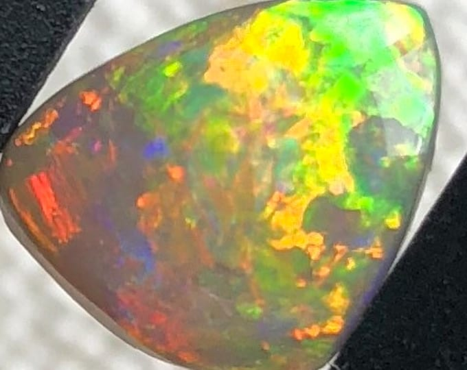 Solid Australian Opal with Strong Rainbow Color