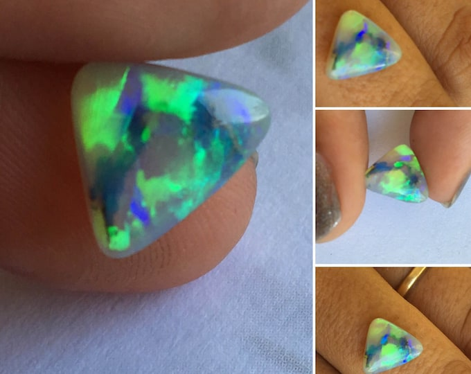 1.90ct Australian Crystal Opal with Luminous Yellow and Green