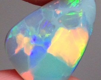 6.15ct Lightning Ridge Opal with Flagstone Pattern