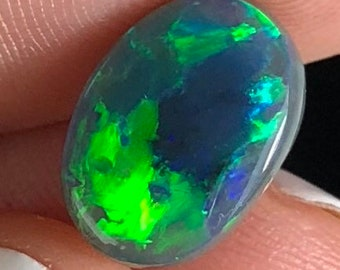 Australian Dark Opal with a Blue and Green Play of Colour
