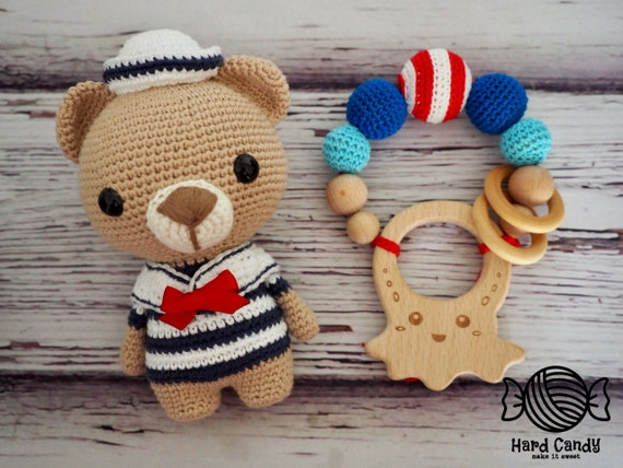 Crochet Bébé Ours Personnalisé Au MarinAmigurumi CoffretJouet CWroQxedB