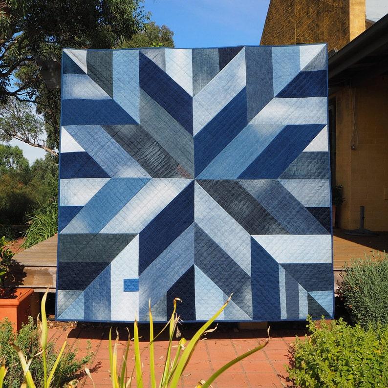 Blue Giant quilt pattern PDF download  Modern quilt star image 0