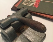 French Vintage hole punch Leober Cast Iron Hole punch industrial office desk can be used as paperweight modern desk decor home decor