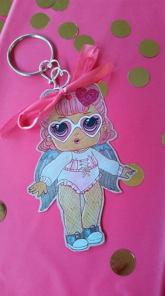 LOL poupée porte-clé cadeaux faits main, lollybags, partys
