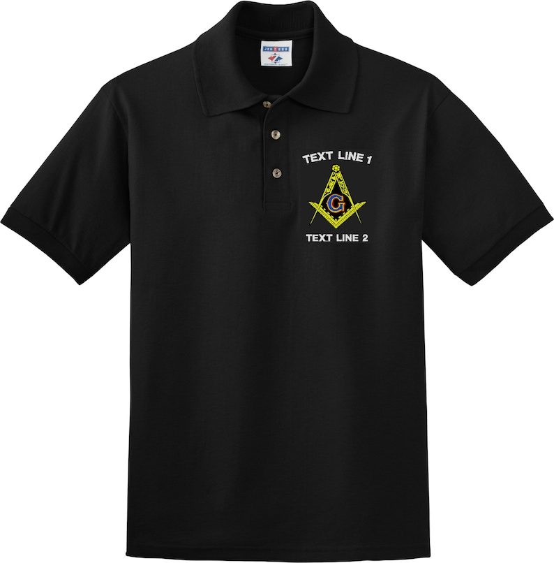 Custom Embroidered Masonic Lodge shirt Jersey Knit