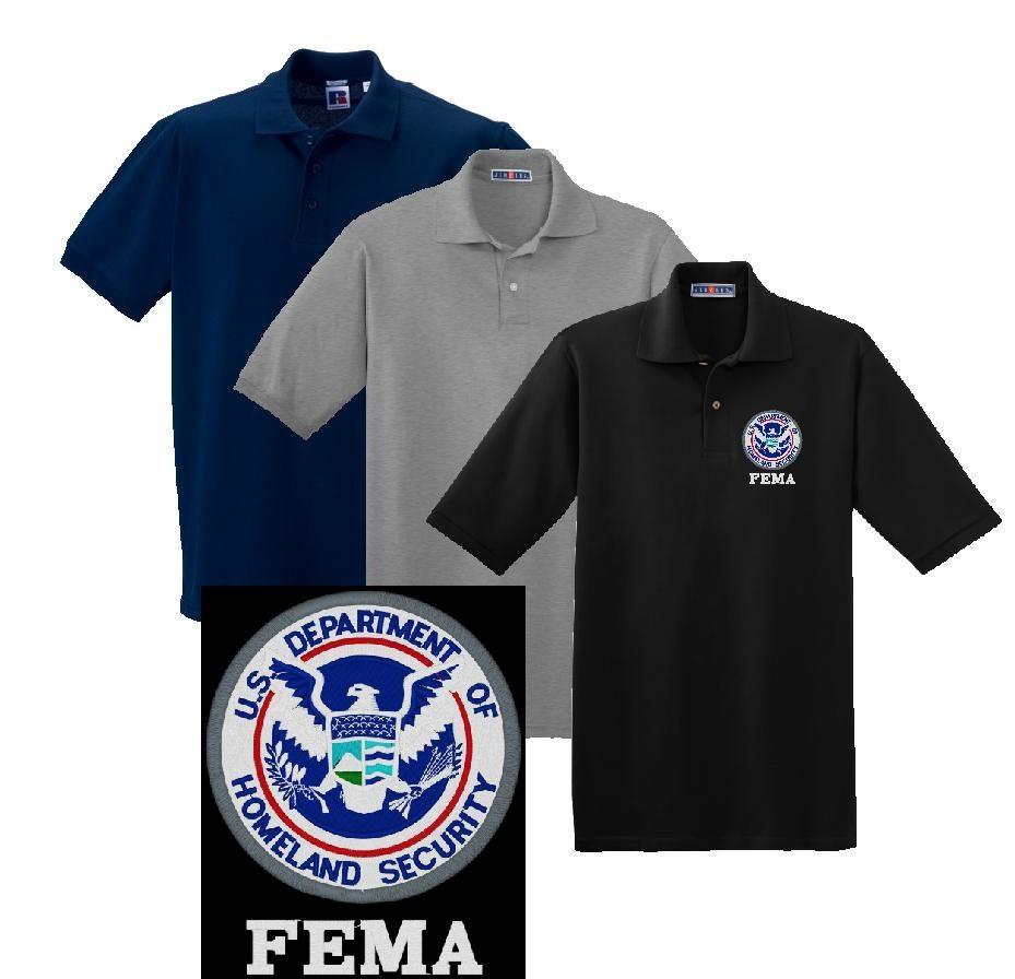 Dept Of Homeland Security Fema Embroidered Polo Shirt 283 Etsy