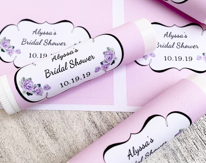Lip Balm Labels Only / Chapstick Favors Bridal Shower / Baby Shower / Wedding Favors / Keep Save
