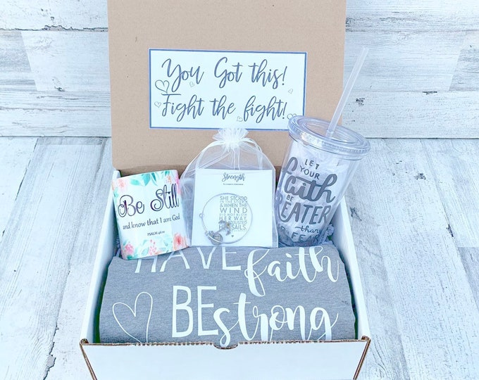 Get Well soon Box - Personalized Get Well Soon Box - Faith Box -  Fearfully and Wonderfully Made - Feel Better Box - Faith Hope Love