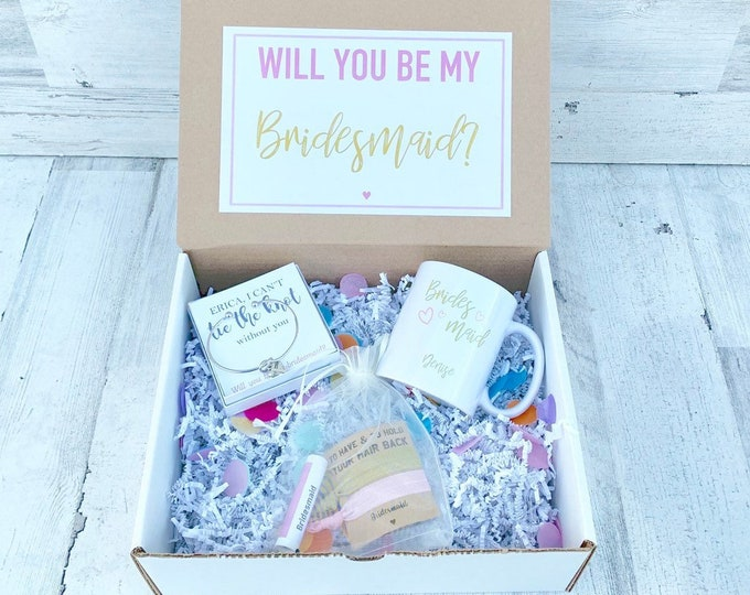 Bridesmaid Gift Boxes - Bridesmaid Proposals - Will you be my Bridesmaid Gift Box - Personalized Bridesmaid Gifts