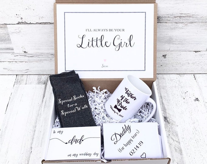 Father of Bride Gift Box - Personalized Father of the Bride Gift - To my Dad on my Wedding Day