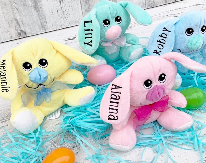Easter Bunny Plush Animals with Names- Personalized Easter Gift