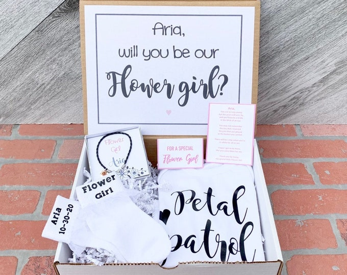 Flower Girl Gift - Flower Girl Proposal - Will you be my Flower Girl - Gift Box