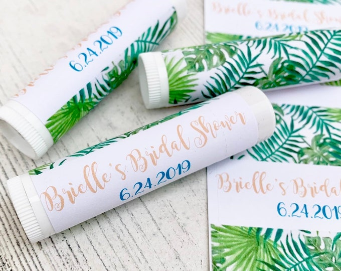 Downloadable Lip Balm Labels / Chapstick Favors Bridal Shower / Baby Shower / Wedding Favors / Keep Save