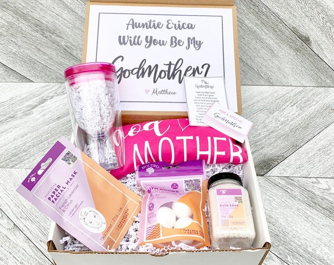 Godmother Gift - Godmother Box - Godmother Spa Gift Proposal - Personalized Godmother Gift - Will you be My Godmother Box