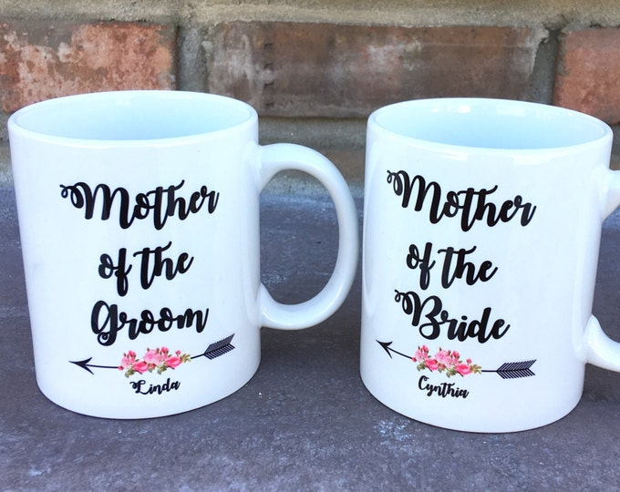 Mother of the Bride Mug - Mother of the Groom Mug - Mug Gifts - Personalized Mugs - Wedding Mugs