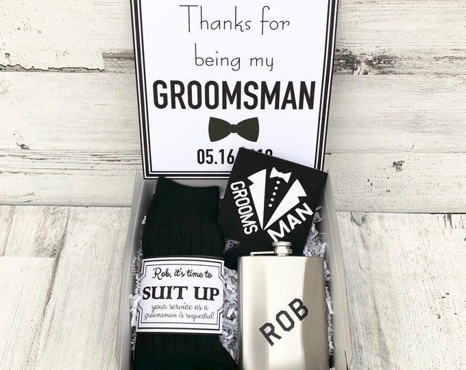 Groomsman Gift Boxes - Thank you for being my Groomsman - Proposals - Will you be my Groomsman Gift Box - Personalized Groomsman Gifts