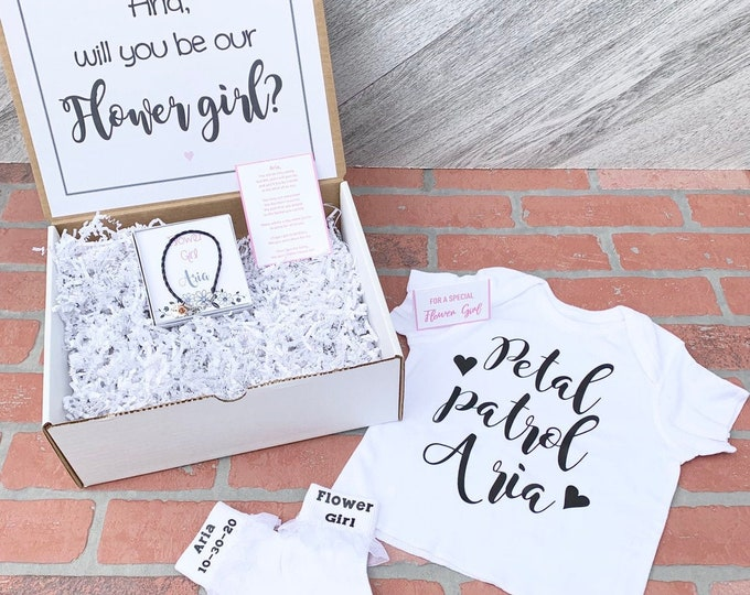 Flower Girl Gift Set - Flower Girl Proposal - Will you be my Flower Girl - Gift Box