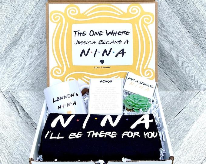 Nina Gift Set - Nina gift Box - Nina Proposal - Personalized Nina Gift - Will you be My Nina Box - I'll be there for you