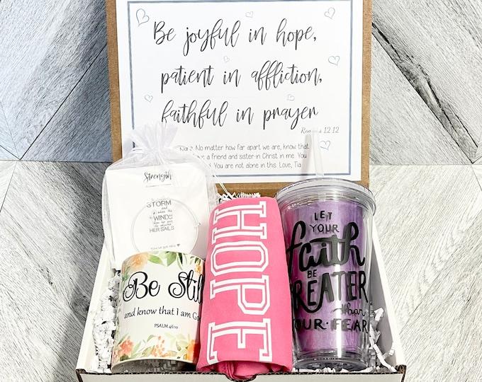 Have Faith Box - Personalized Get Well Soon Box - Faith Box - Christian Gifts - Feel Better Box - Faith Hope Love
