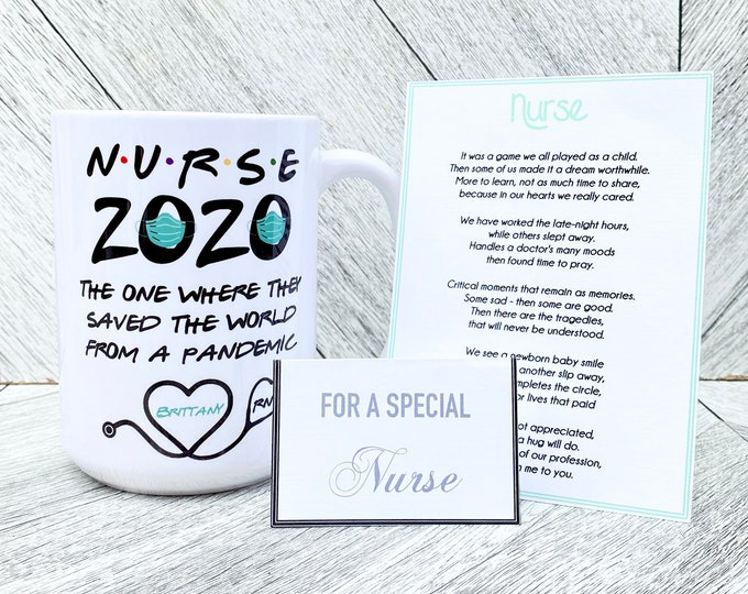 Nurse Pandemic Mug - The One Where she Saved The World From a Pandemic - Nurse Spa Set Option