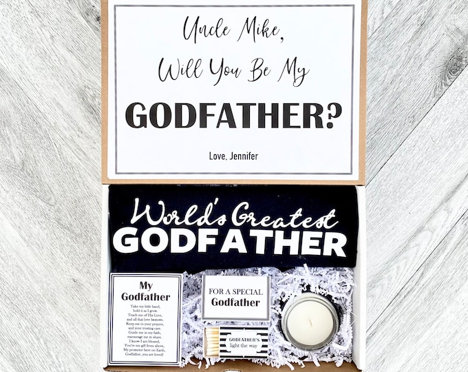 Godfather Box - Personalized Godfather Gift - Will you be My Godfather Box